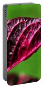 Red Leaf Portable Battery Charger by Kaye Menner