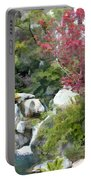 Red Maple Above The Falls Portable Battery Charger