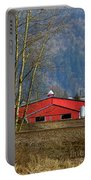 Red Matsqui Barn Portable Battery Charger