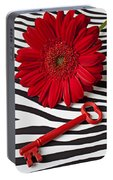 Red Mum And Red Key Portable Battery Charger
