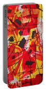 Red Orange Abstract Portable Battery Charger
