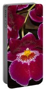Red Orchids Portable Battery Charger