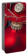 Red Ornaments Portable Battery Charger