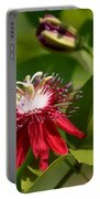 Red Passion Flower Portable Battery Charger
