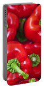 Red Peppers Portable Battery Charger by Joana Kruse
