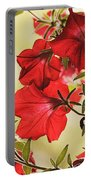 Red Petunias Portable Battery Charger
