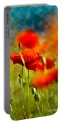 Red Poppy Flowers 01 Portable Battery Charger