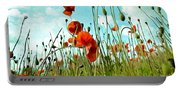Red Poppy Flowers 03 Portable Battery Charger