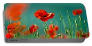 Red Poppy Flowers 06 Portable Battery Charger