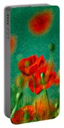 Red Poppy Flowers 07 Portable Battery Charger
