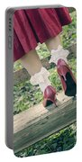 Red Pumps Portable Battery Charger by Joana Kruse