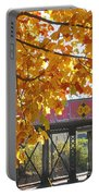 Red Railroad Trestle Portable Battery Charger