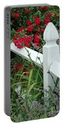 Red Rhododendron And White Post Portable Battery Charger