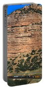 Red Rock Cliffs Along The Hood River Portable Battery Charger