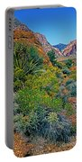 Red Rock Park Spring Flowers Portable Battery Charger