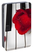 Red Rose And Candy Heart Portable Battery Charger