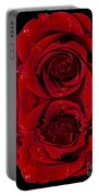 Red Rose Dew Portable Battery Charger