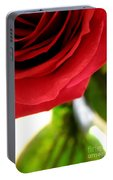 Red Rose In Glass Vase Portable Battery Charger