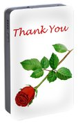 Red Rose Thank You Card Portable Battery Charger