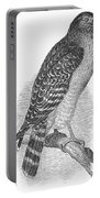 Red-shouldered Hawk, 1890 Portable Battery Charger