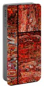 Red Splashes Swishes And Swirls - Abstract Art Portable Battery Charger