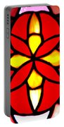 Red Stained Glass Portable Battery Charger by LeeAnn McLaneGoetz McLaneGoetzStudioLLCcom