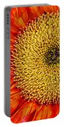 Red Sunflower Iv Portable Battery Charger