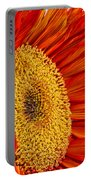 Red Sunflower V Portable Battery Charger