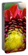 Red Sunrise Dahlia Portable Battery Charger