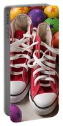 Red Tennis Shoes And Balls Portable Battery Charger