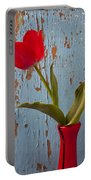 Red Tulip Bending Portable Battery Charger
