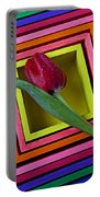 Red Tulip In Box Portable Battery Charger