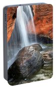 Red Waterfall Portable Battery Charger