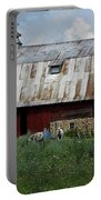 Red Weathered Barn Portable Battery Charger