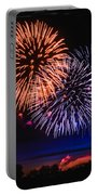 Red White And Blue Portable Battery Charger by Robert Bales