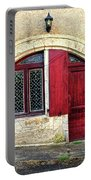 Red Windows And Door Provence France Portable Battery Charger