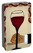 Red Wine Glass Portable Battery Charger