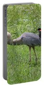 Red-winged Blackbird Attacking Great Blue Heron Portable Battery Charger