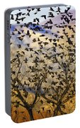 Red-winged Blackbirds At Sunset Portable Battery Charger