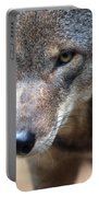 Red Wolf Closeup Portable Battery Charger