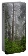 Redwoods In Breaking Mists Portable Battery Charger