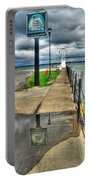 Reflecting At The Erie Basin Marina Portable Battery Charger