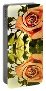 Reflection Of A Warm Rose Portable Battery Charger