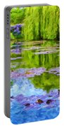 Reflections At Giverny Portable Battery Charger