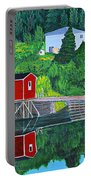 Reflections H D R Portable Battery Charger by Barbara Griffin