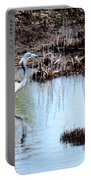 Reflections Of A Blue Heron Portable Battery Charger