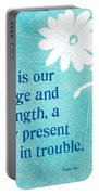 Refuge And Strength Portable Battery Charger by Linda Woods