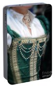 Renaissance Lady In Green Portable Battery Charger