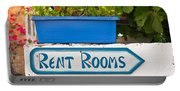 Rent Rooms Sign Portable Battery Charger