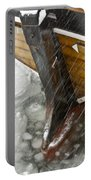 Resting In Ice Portable Battery Charger by Heiko Koehrer-Wagner